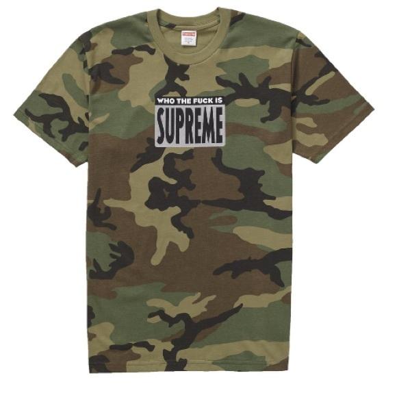 ac7a8a6d Supreme Shirts | Who Fck Ss19 Authentic Woodland Camo Fuck | Poshmark